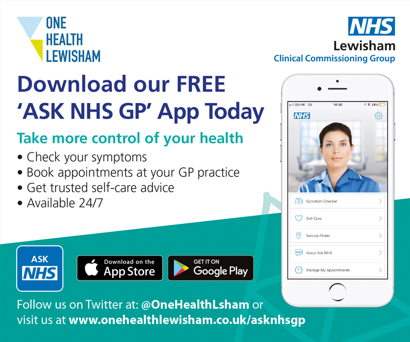 one health lewisham. Download our FREE 'Ask NHS GP' App today. Take more control of your health